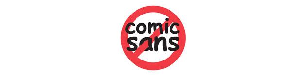 Warum nicht Comic Sans MS?