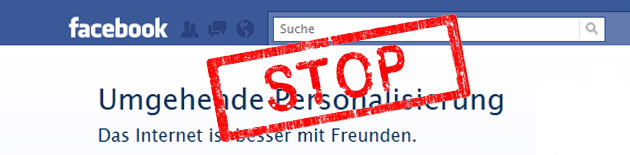 Facebook – Umgehende Personalisierung